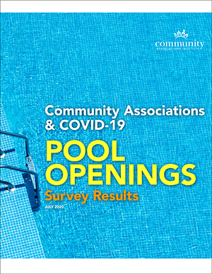 Pool Openings Survey Results cover image of a pool and pool ladder